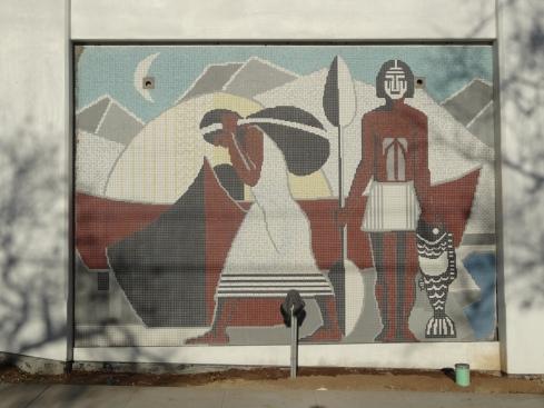 History mural close-up