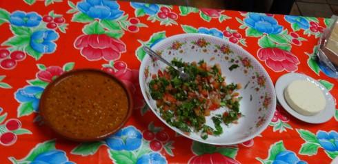 Nopales Salad and Hot Salsa